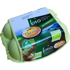 LE CLOS MALLY Oeufs frais de poules élevées en plein air bio 6 oeufs