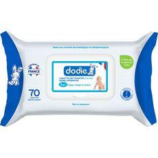 DODIE Dodie Lingettes nettoyantes dermo apaisantes 3en1 x70 70 lingettes