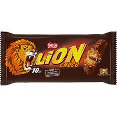 LION Barres chocolatées au caramel et céréales croustillantes 10 barres 420g