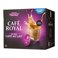 CAFE ROYAL Café au lait en capsule compatible Dolce Gusto et Nespresso 16 capsules 158g