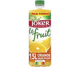 JOKER Jus d'orange le fruit sans pulpe sans sucres ajoutés 1,5l
