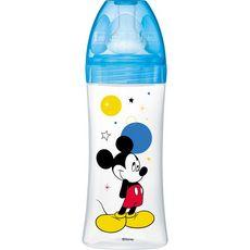 DODIE Dodie Biberon anti colique mickey bleu 3 vitesses +6mois x1 330ml