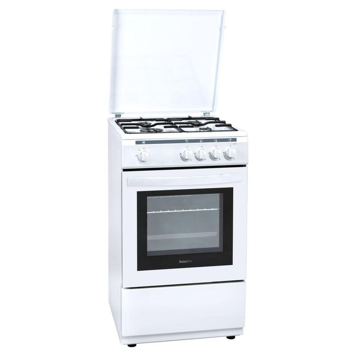 Cuisinière à gaz 400045, 4 foyers, Four à gaz