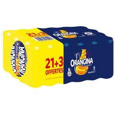 ORANGINA Boisson gazeuse à la pulpe de fruit jaune boîtes dont 3 offertes 24x33cl