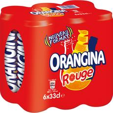 Orangina Rouge Boisson gazeuse aux agrumes 6x33cl