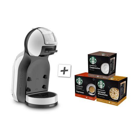 KRUPS Machine expresso + 3 boîtes de capsule Starbucks YY4497FD - Gris artic