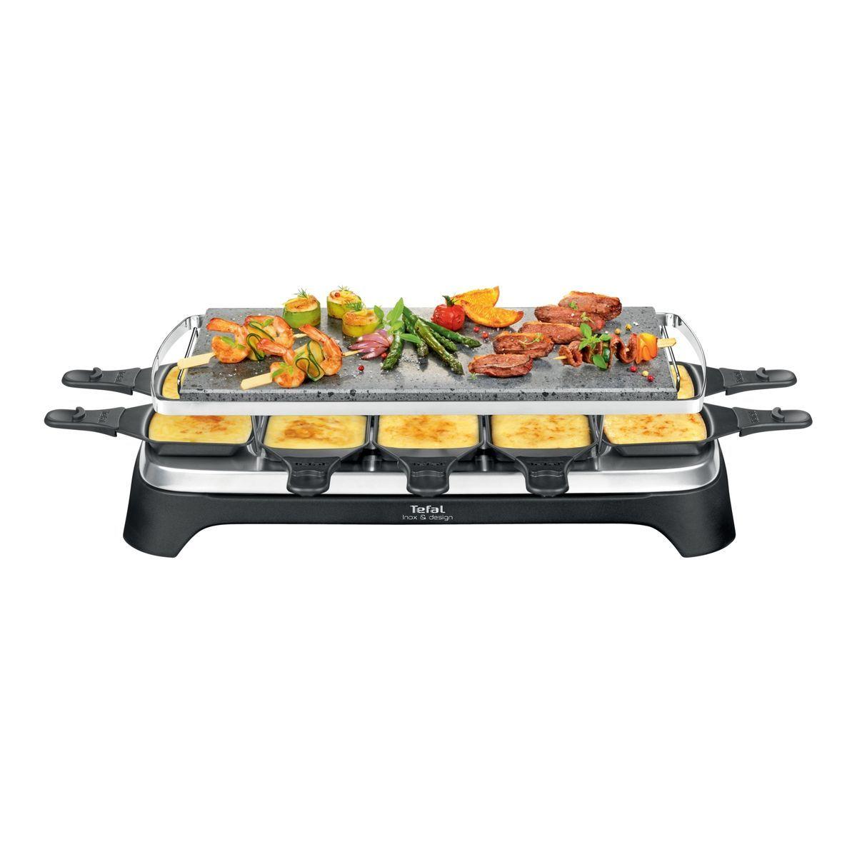 Appareil à raclette et Pierrade PR457B12 - Noir