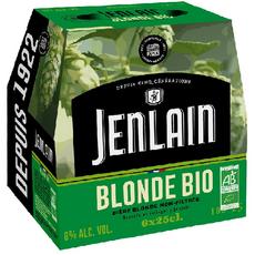 JENLAIN Bière blonde bio non filtrée bouteilles 6x25cl