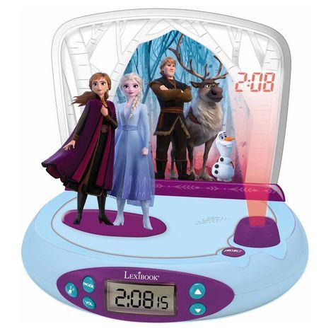 LEXIBOOK Réveil projecteur avec sons Frozen II - RP510FZ_50 - Bleu