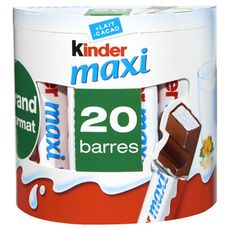 KINDER Maxi Barres chocolatées 20 barres 420g