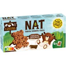 NAT Nat Ourson céréales chocolat x6 192g 6 pièces 192g