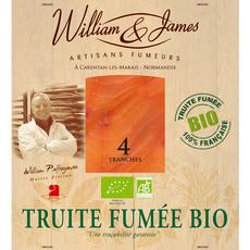 WILLIAM & JAMES Truite fumée bio 4 tranches 100g