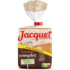 JACQUET Pain de mie complet sans sucres ajoutés en tranches 14 tranches 550g
