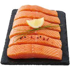 AUCHAN LE POISSONNIER Pavés de saumon filière responsable 6 pièces 750g