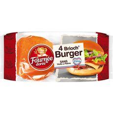 FOURNEE DOREE Pains brioch' burger 4 pains 250g