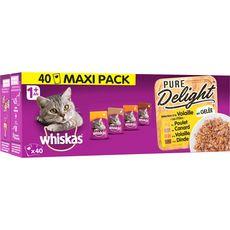 WHISKAS Sachets repas pâtée en gelée volaille pour chat 40x85g