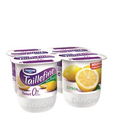 Taillefine 0% yaourt allégé aux fruits citron 4x125g
