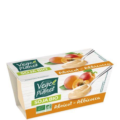 Yaourt de soja bio à l'abricot