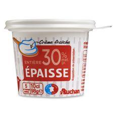 AUCHAN Crème fraîche épaisse entière 30%MG 10cl