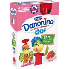 Danonino go yaourt à boire fraise 4x70g