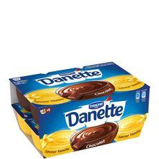 Danette crème dessert saveur vanille chocolat 12x115g