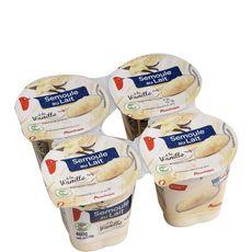 Auchan semoule au lait vanille 4x100g