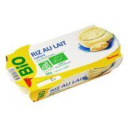 Auchan bio riz au lait 2x140g