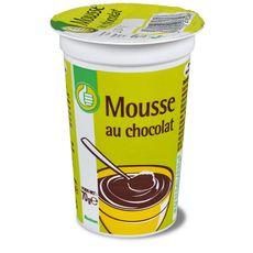 POUCE AUCHAN ESSENTIEL Mousse au chocolat 15cl 15cl