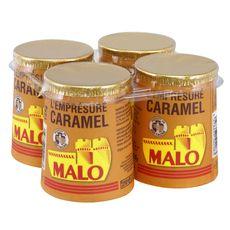 MALO Saint Malo yaourt emprésuré caramel 4x125g