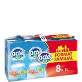 Lactel lait demi-écrémé 8x1l format familial