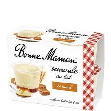 BONNE MAMAN Semoule au lait et lit de caramel 4x100g