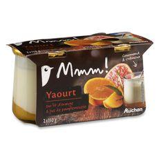 Mmm! yaourt sur lit d'orange pamplemousse 2x150g