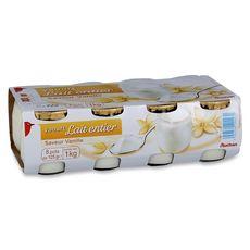AUCHAN AUCHAN Yaourt aromatisé à la vanille 8x125g 8x125g