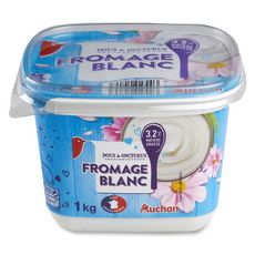 AUCHAN Fromage blanc 3.2% MG 1kg