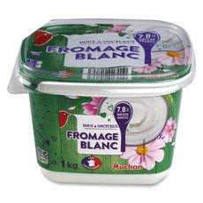 AUCHAN Fromage blanc 7.8% 1kg