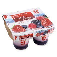 Auchan yaourt sur lit de fruits rouges 4x150g