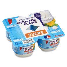 AUCHAN Fromage frais sucré au lait demi-écrémé 3% 4x100g