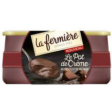 La Fermière crème au chocolat pot 2x125g
