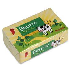 Auchan beurre demi-sel  250g