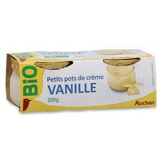 AUCHAN BIO AUCHAN BIO Pot de crème à la vanille 2x100g 2x100g
