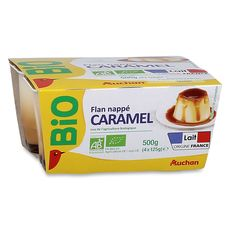 Auchan Bio flan caramel 4x125g