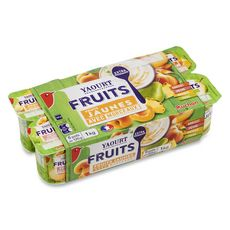 Auchan yaourts aux fruits jaunes avec morceaux 8x125g