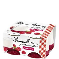Bonne Maman yaourt confiture framboise 4x125g