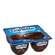 Danette crème dessert chocolat noir extra 4x125g