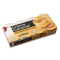 Auchan crème caramel cuite au four 8x100g
