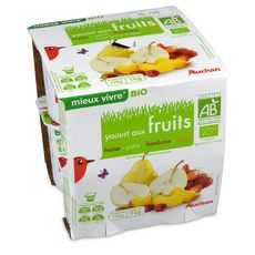 Auchan Bio yaourt aux fruits 8x125g