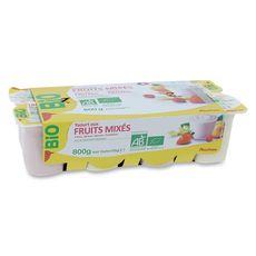 AUCHAN BIO Yaourt aux fruits mixés 8x100g