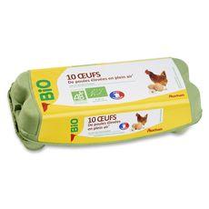 AUCHAN Auchan bio oeufs x10 10 œufs