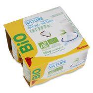 Auchan bio yaourt nature 4x125g