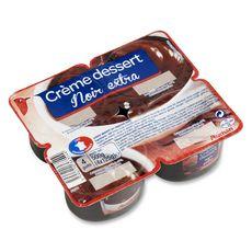 Auchan crème dessert chocolat noir 4x125g